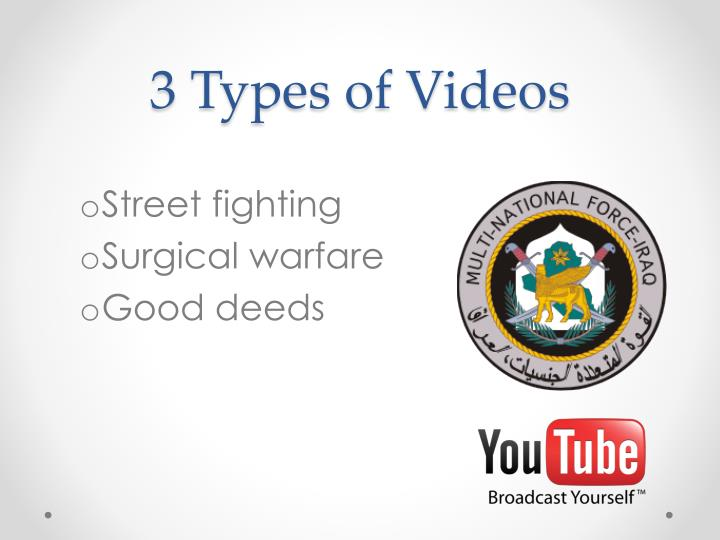 3 Types of Videos