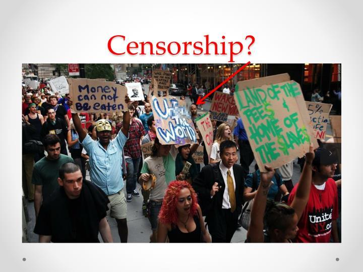 Censorship?
