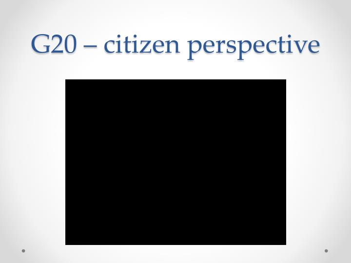 G20 – citizen perspective