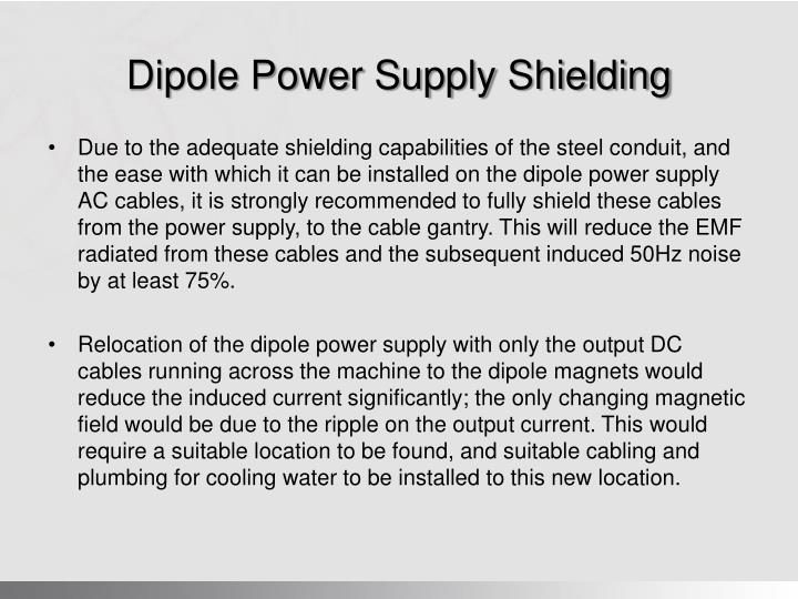 Dipole Power Supply Shielding