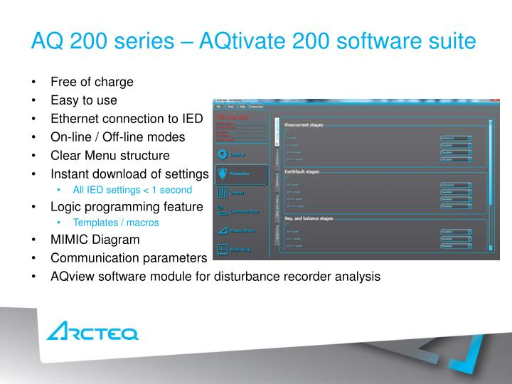 AQ 200 series – AQtivate 200 software suite
