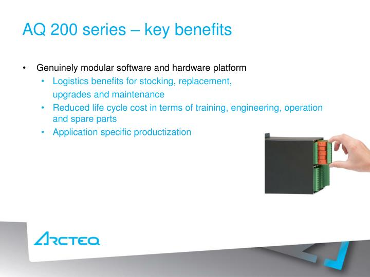 Aq 200 series key benefits