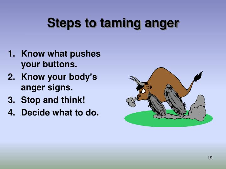 Steps to taming anger