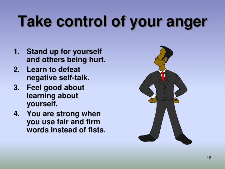 Take control of your anger