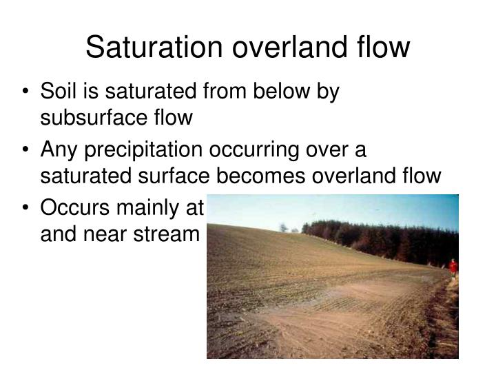 Saturation overland flow
