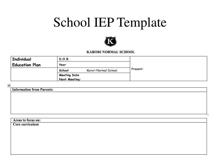 School IEP Template