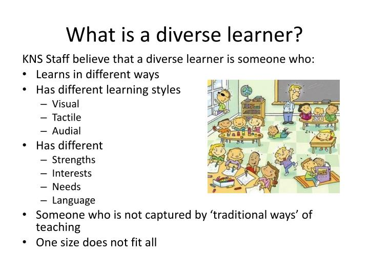 What is a diverse learner?