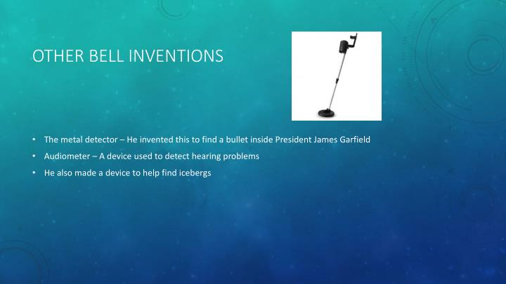 Other bell inventions