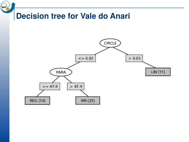 Decision tree for Vale do Anari