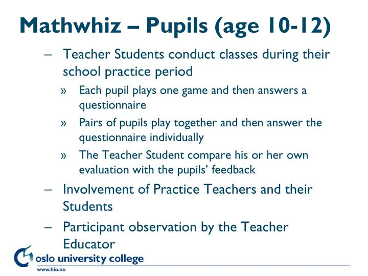Mathwhiz – Pupils (age 10-12)