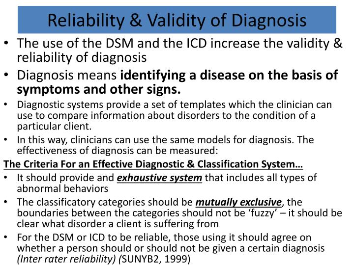 Reliability and validity in research ppt