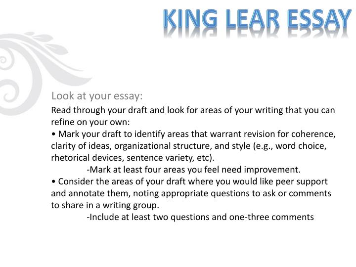 questions king lear essays