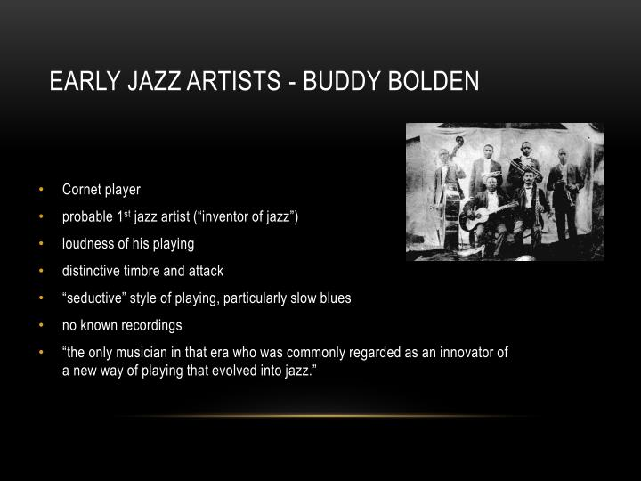 Early Jazz Artists