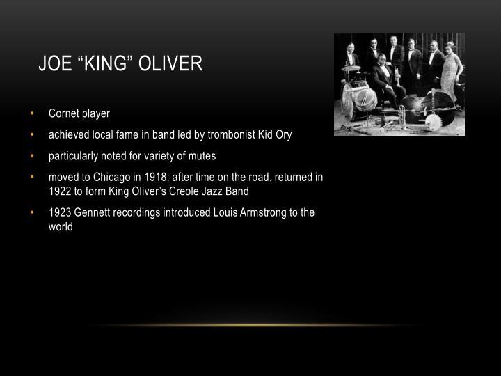"""Joe """"King"""" Oliver"""