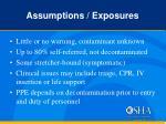 assumptions exposures