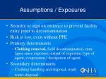 assumptions exposures1