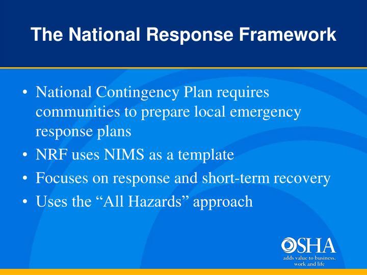 The National Response Framework