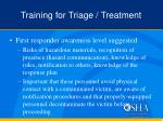 training for triage treatment