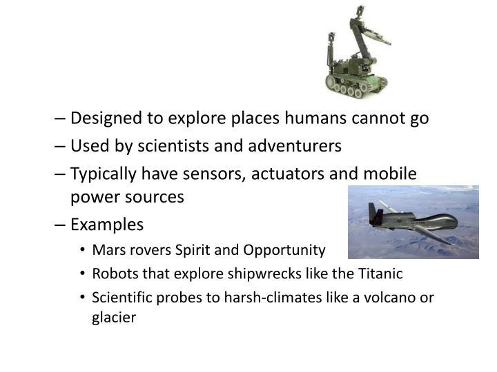 Exploring Robots