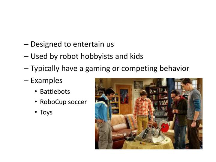 Playing Robots