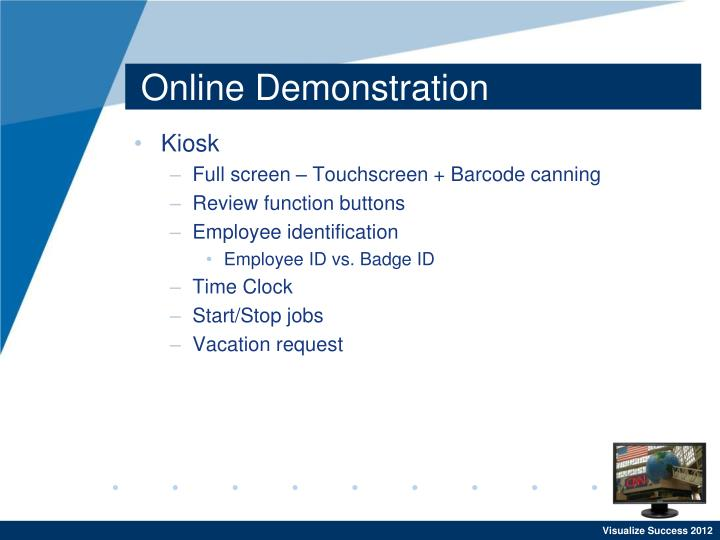 Online Demonstration