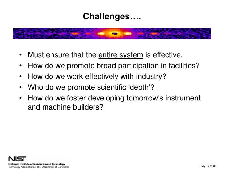 Challenges….