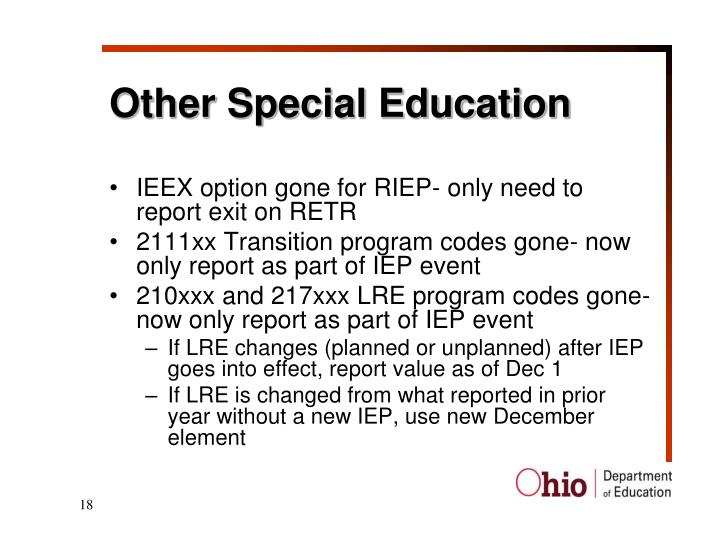 Other Special Education