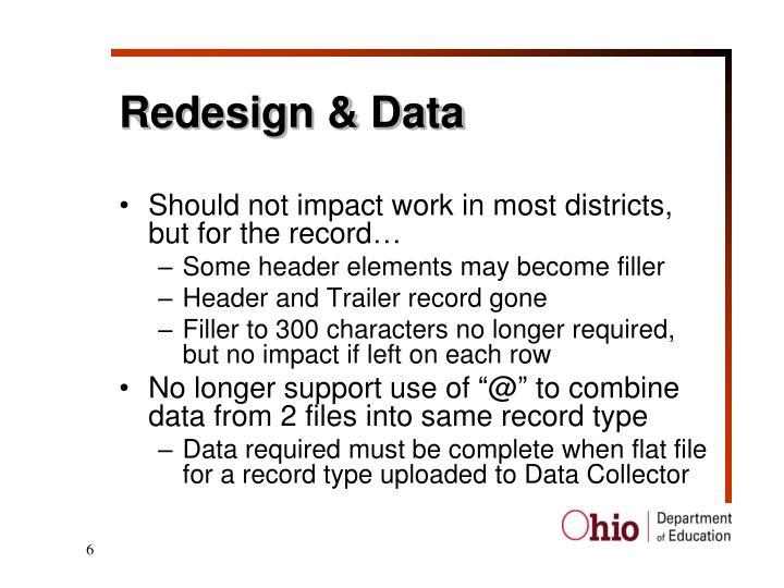Redesign & Data