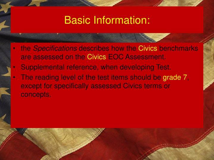 Basic Information: