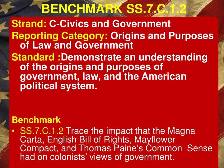 BENCHMARK SS.7.C.1.2