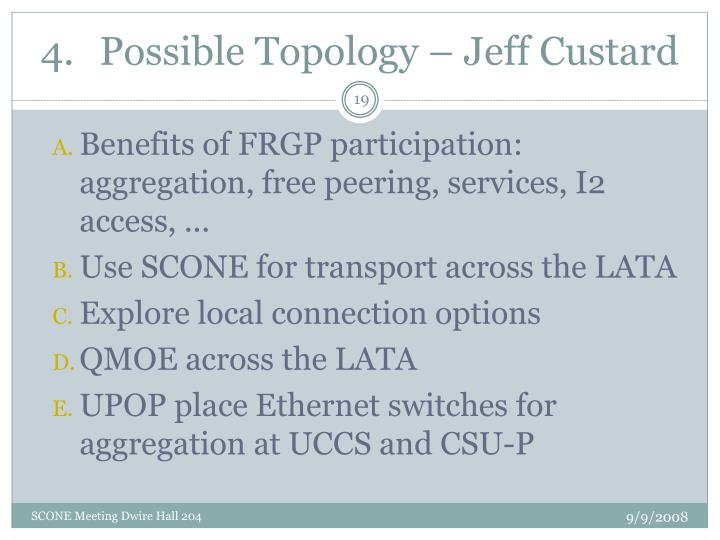 Possible Topology – Jeff Custard