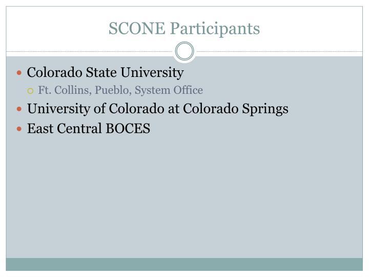SCONE Participants