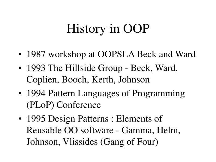 History in OOP