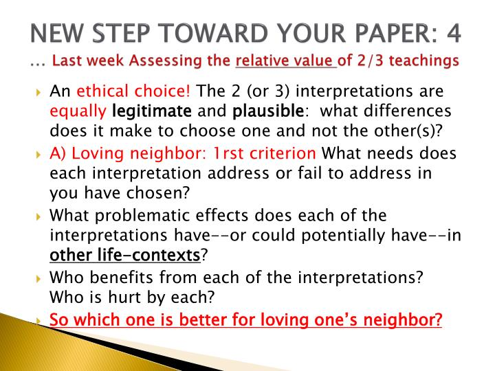 NEW STEP TOWARD YOUR PAPER: 4