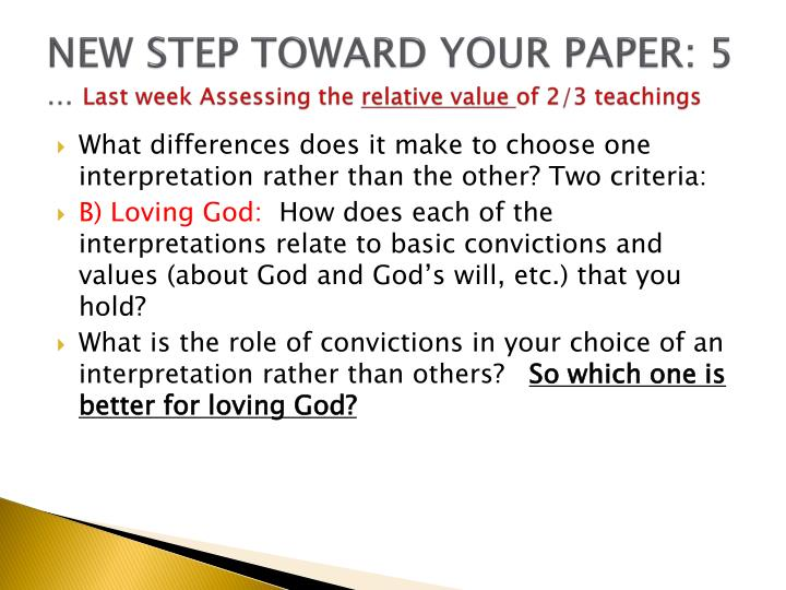 NEW STEP TOWARD YOUR PAPER: 5