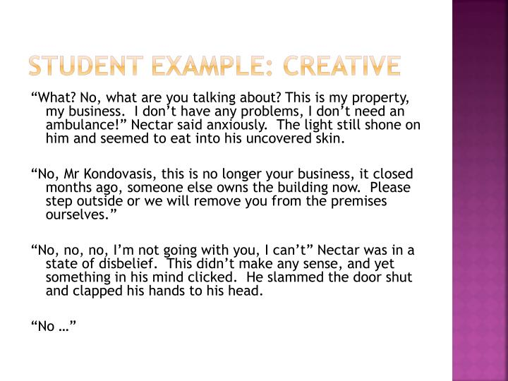 Student Example: Creative