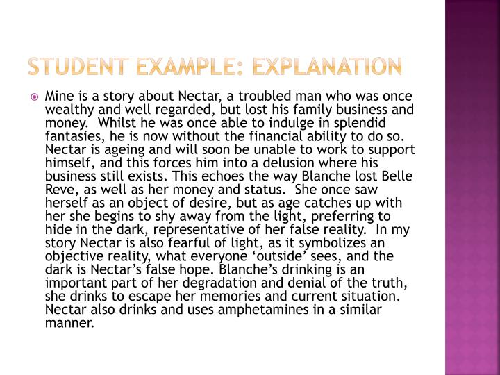 Student Example: Explanation
