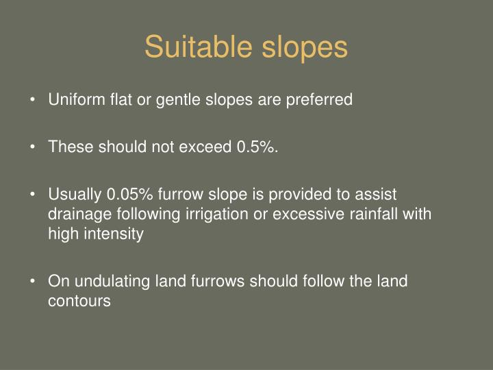 Suitable slopes
