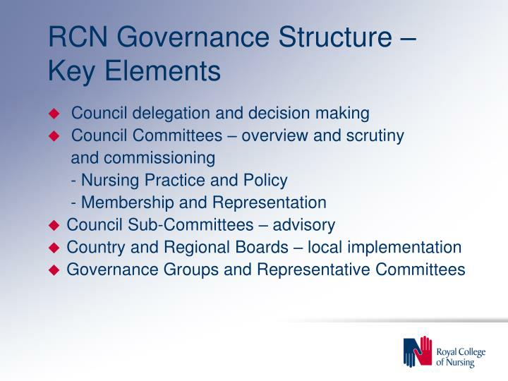RCN Governance Structure – Key Elements