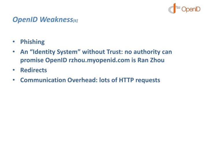 OpenID Weakness
