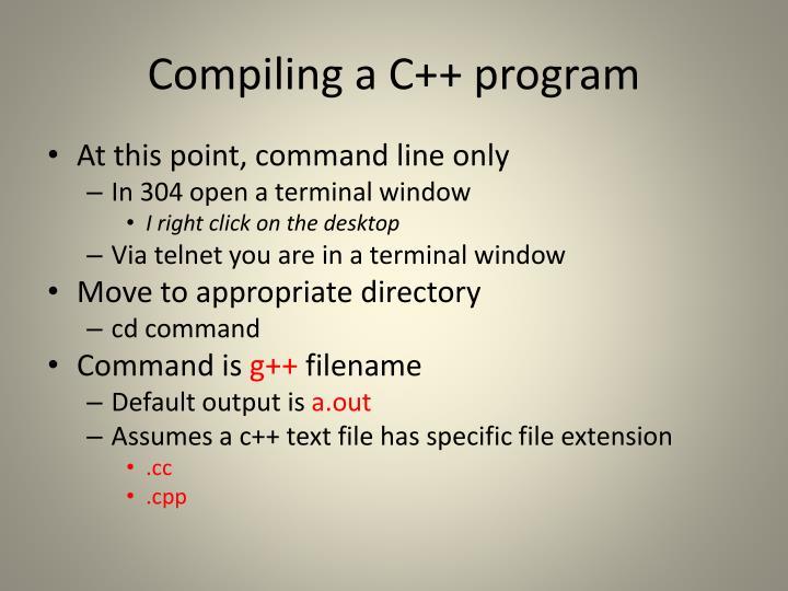Compiling a C++ program