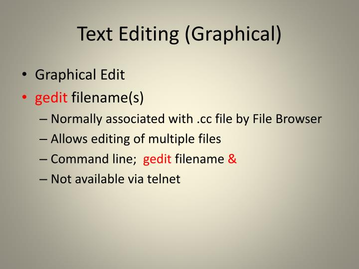 Text Editing (Graphical)