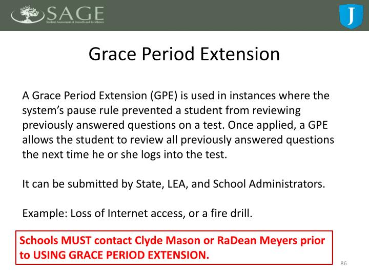 Grace Period Extension