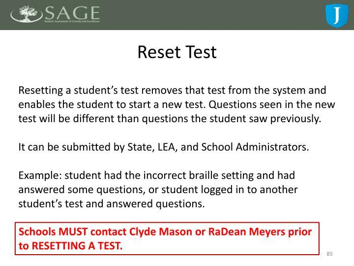 Reset Test