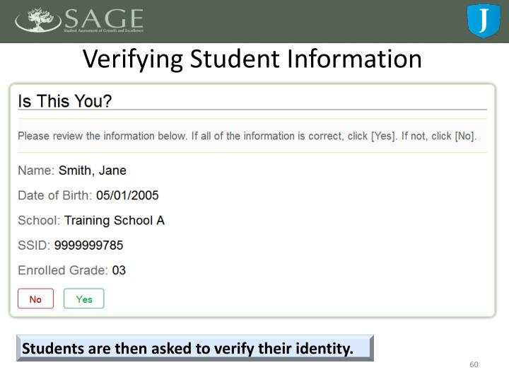 Verifying Student Information