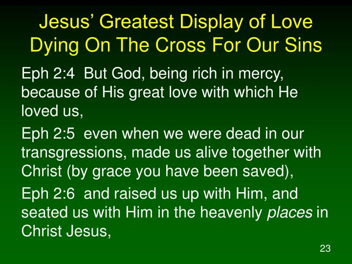 Jesus' Greatest Display of Love Dying On The Cross For Our Sins
