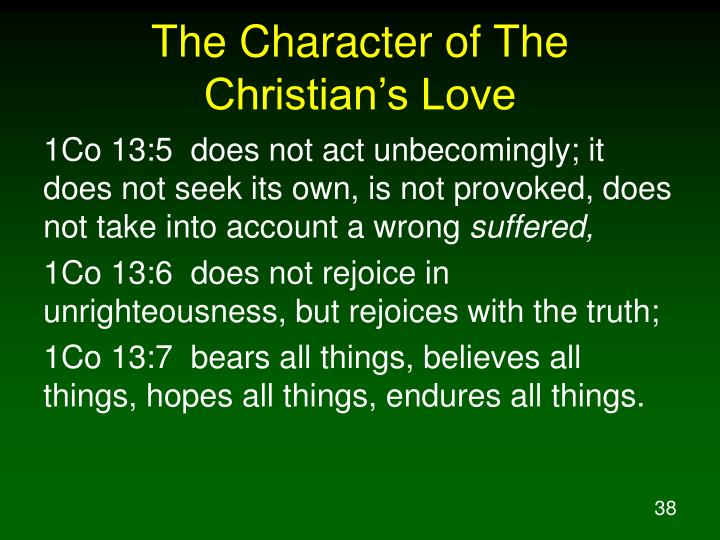 The Character of The Christian's Love