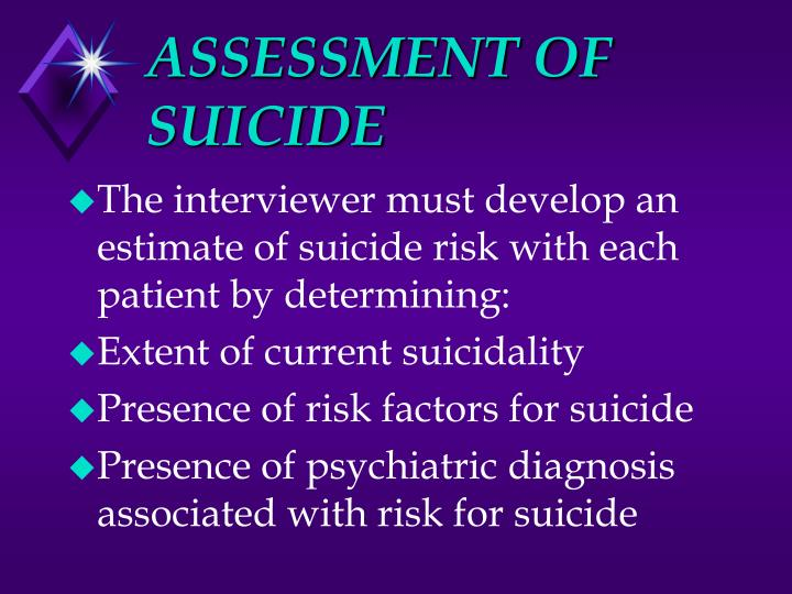 ASSESSMENT OF SUICIDE