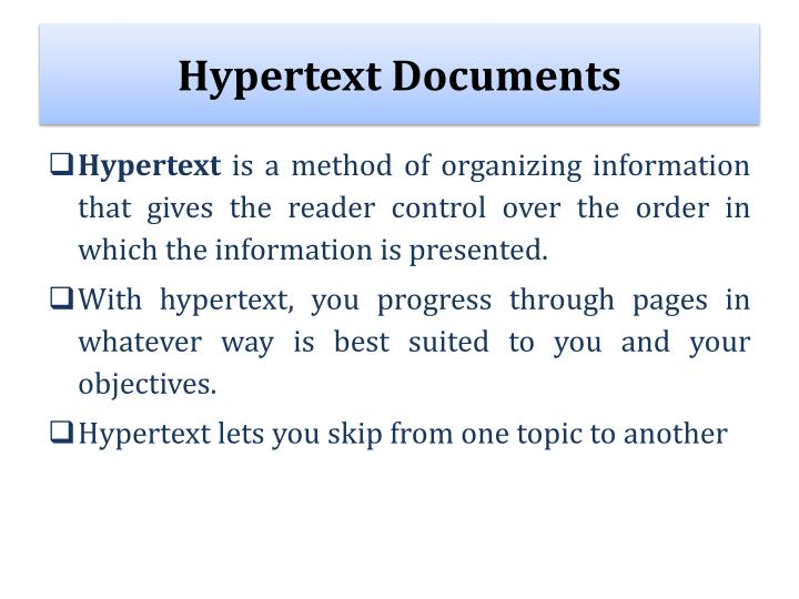 Hypertext Documents