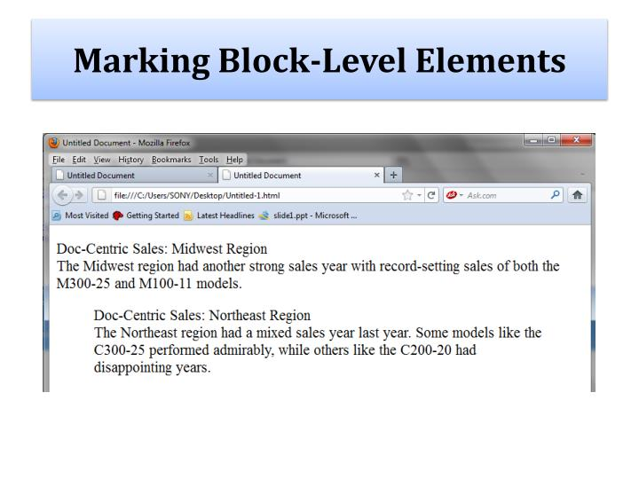 Marking Block-Level Elements
